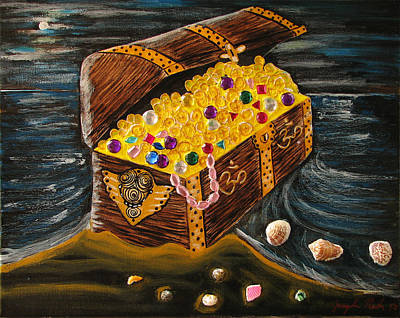 Painting - Treasure Chest Of Om by Jacqueline Martin