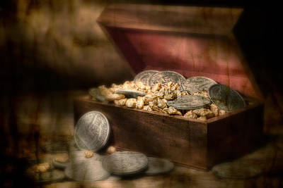 Coins Photograph - Treasure Chest by Tom Mc Nemar
