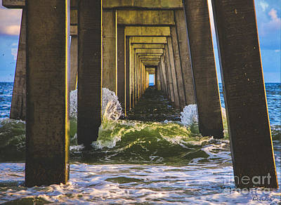 Photograph - Treasure Coast Florida Pier Seascape C2 by Ricardos Creations