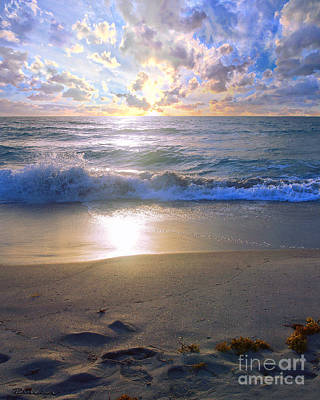 Photograph - Treasure Coast Florida Sunrise Seascape B7 by Ricardos Creations