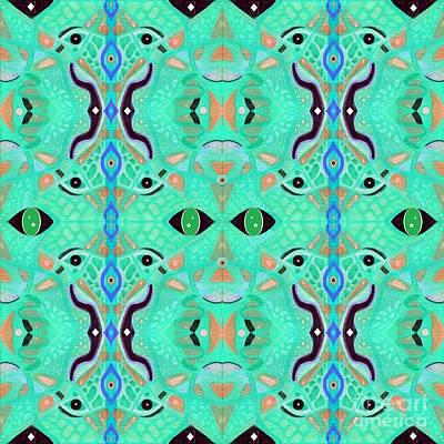 Digital Art - Treasure In Green by Helena Tiainen