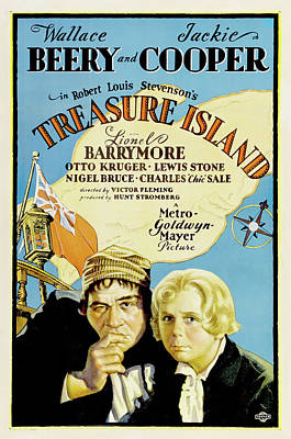 Artistic Expression Mixed Media - Treasure Island 1934 by M G M