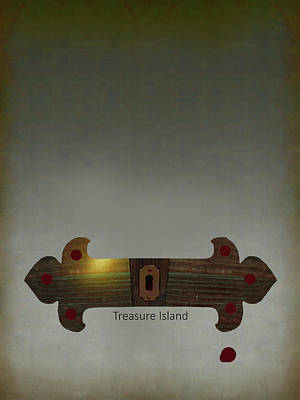 Digital Art - Treasure Island Minimal Movie Poster by Attila Meszlenyi