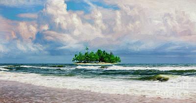 Painting - Treasure Island Outer Banks Ap by Dan Carmichael