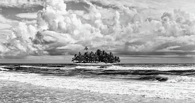 Photograph - Treasure Island Outer Banks Bw by Dan Carmichael