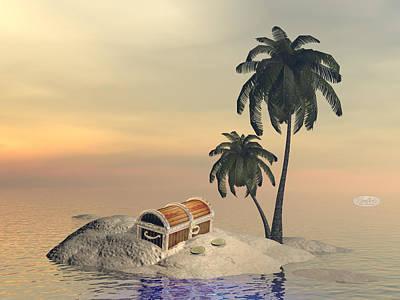 Treasure Box Digital Art - Treasure To Find - 3d Render by Elenarts - Elena Duvernay Digital Art