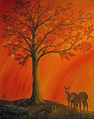 Painting - Treasure Tree by John Reid