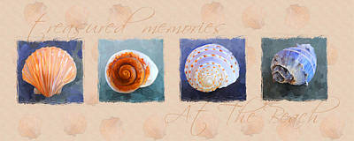 Painting - Treasured Memories Sea Shell Collection by Jai Johnson