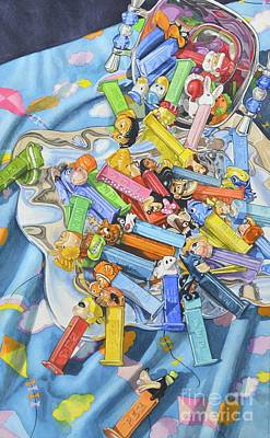 Pez Dispenser Painting - Treasures by Carmella Tuliszewski