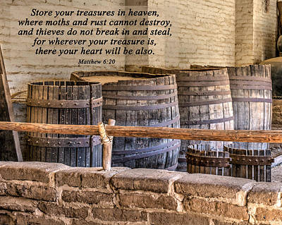 Treasures In Heaven Art Print by Joan Baker