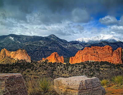Peaks Photograph - Treasures Of Colorado Springs by Tim Reaves