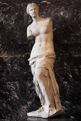 Photograph - Treasures Of The Louvres - Venus De Milo  by Hany J