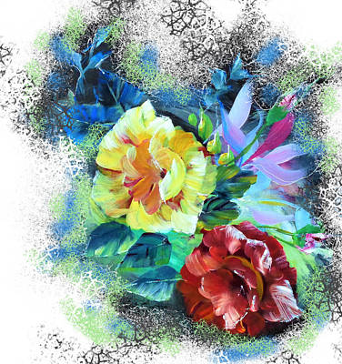 Wall Art - Painting - Treat Me With Flowers, Please. by Larissa Pirogovski