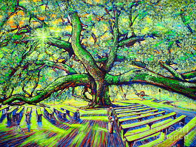 Painting - Treaty Oak #3 by Viktor Lazarev