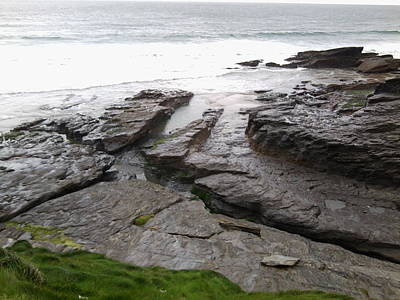 Photograph - Trebarwith, Cornwall 1 by Julia Woodman