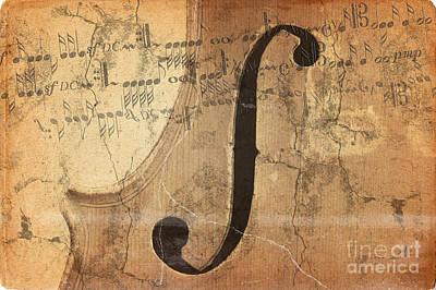 Treble Clef Art Print by Michal Boubin
