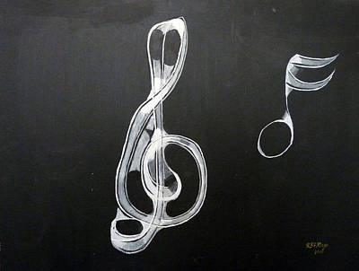 Painting - Treble Clef by Richard Le Page