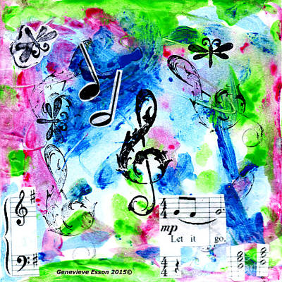 Mixed Media - Treble Mp by Genevieve Esson