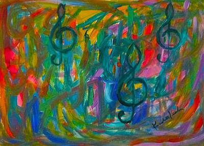 Painting - Treble Play by Kendall Kessler