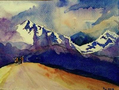Painting - Trecking by Annie Poitras