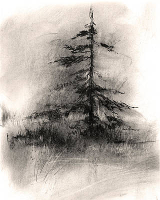 Wall Art - Drawing - Tree 1 by Laurie Musser