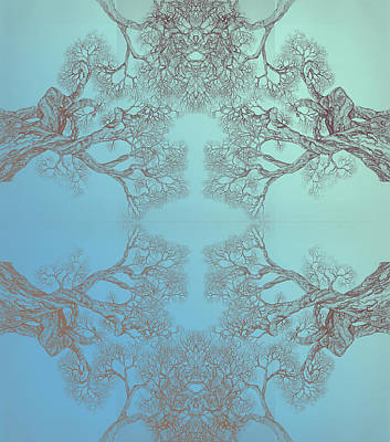 Digital Art - Tree 20 Hybrid 3 by Brian Kirchner