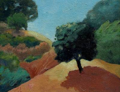 Print featuring the painting Tree Alone by Gary Coleman