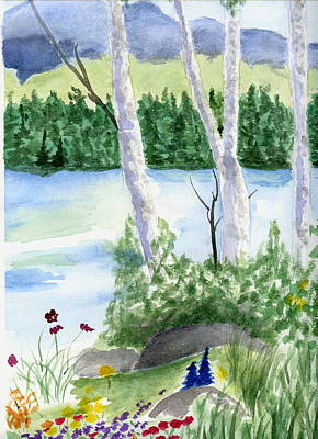 Painting - Tree And Lake by Jamie Frier
