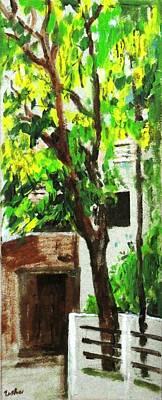 Tree And Shade Print by Usha Shantharam