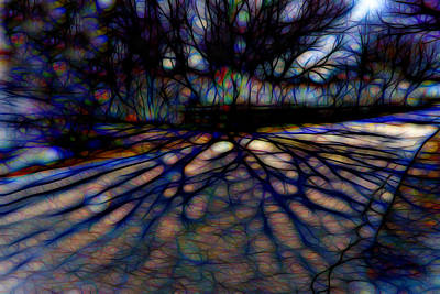 Impressionist Mixed Media - Tree And Shadow by Lilia D