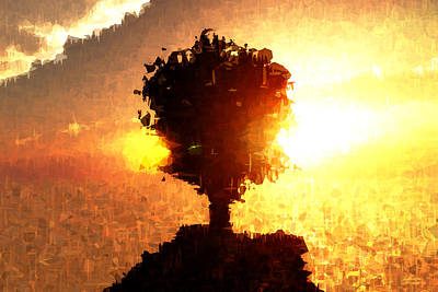 Digital Art - Tree And Sun... by Tim Fillingim