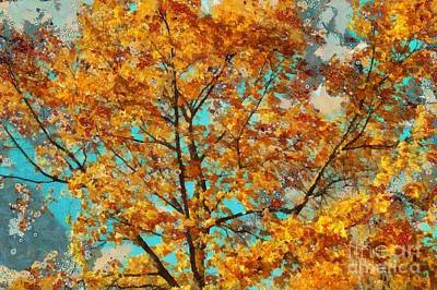 Brown Leaves Photograph - Tree Art 03 - Tl-k0111 by Variance Collections