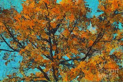 Brown Leaves Photograph - Tree Art 03 - Tlg03cc by Variance Collections