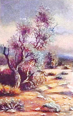 Painting - Desert Tree Beauty 1 by Hazel Holland