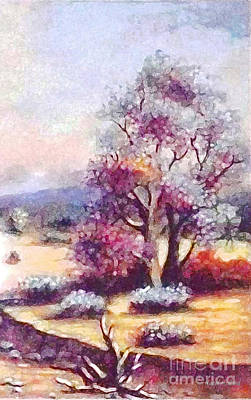 Painting - Desert Tree Beauty 2 by Hazel Holland