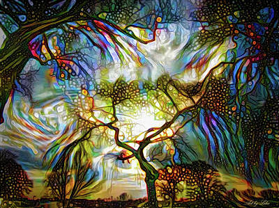 Mixed Media - Dance Of Tree Branches by Lilia D