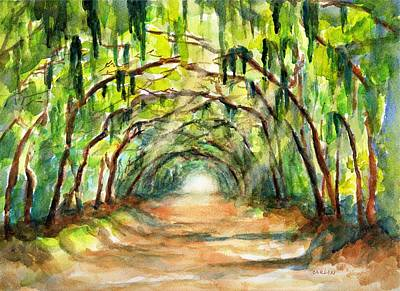 Painting - Tree Canopy With Spanish Moss by Carlin Blahnik
