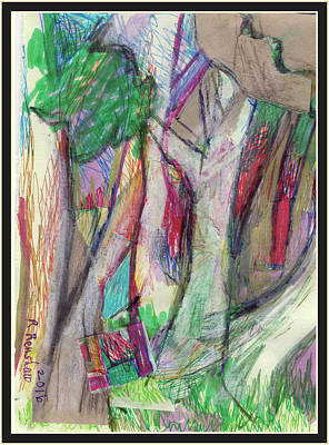 Drawing - Tree Collage by Ruth Renshaw