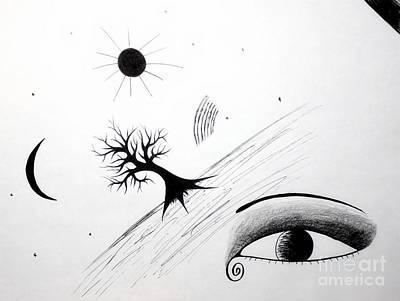 Observer Drawing - Tree Consciousness by Samiksa Art