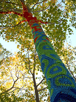 Tree Crochet Art Print