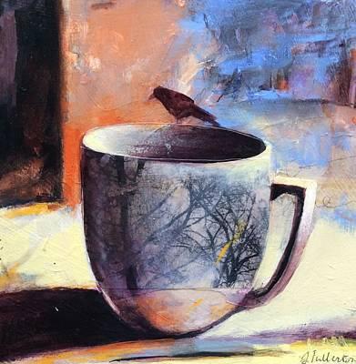 Tree Cup Art Print by Joan Fullerton