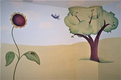 Painting - Tree, Daisy Pad And Birdie by Suzn Art Memorial