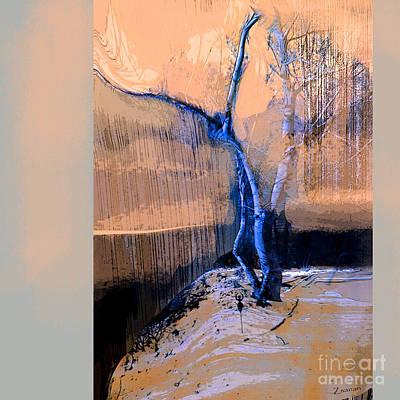 Tree Dancing On The Edge Art Print
