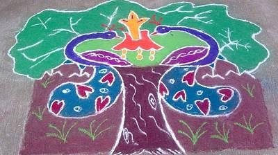 Tree Design Print by Joni Mazumder
