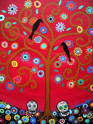 Mexican Painting - Tree Dia De Los Muertos by Pristine Cartera Turkus