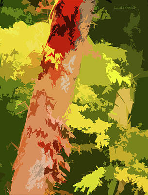 Digital Art - Tree Enhancement by John Lautermilch