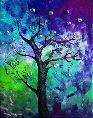 Rainbow Fantasy Art Painting - Tree Fantasy3 by Ramneek Narang