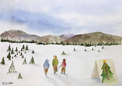 Painting - Tree Farm by Rachel Barlow