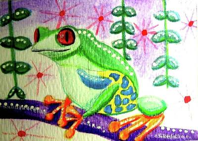 Painting - Tree Frog by Monica Resinger