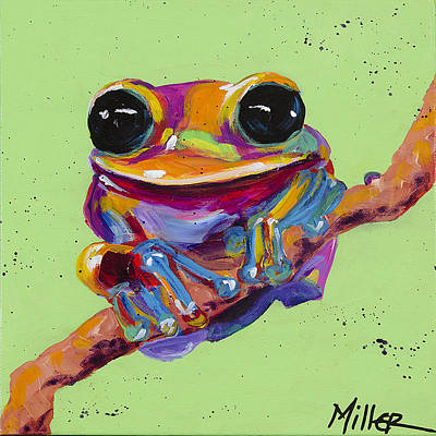 Painting - Tree Frog by Tracy Miller